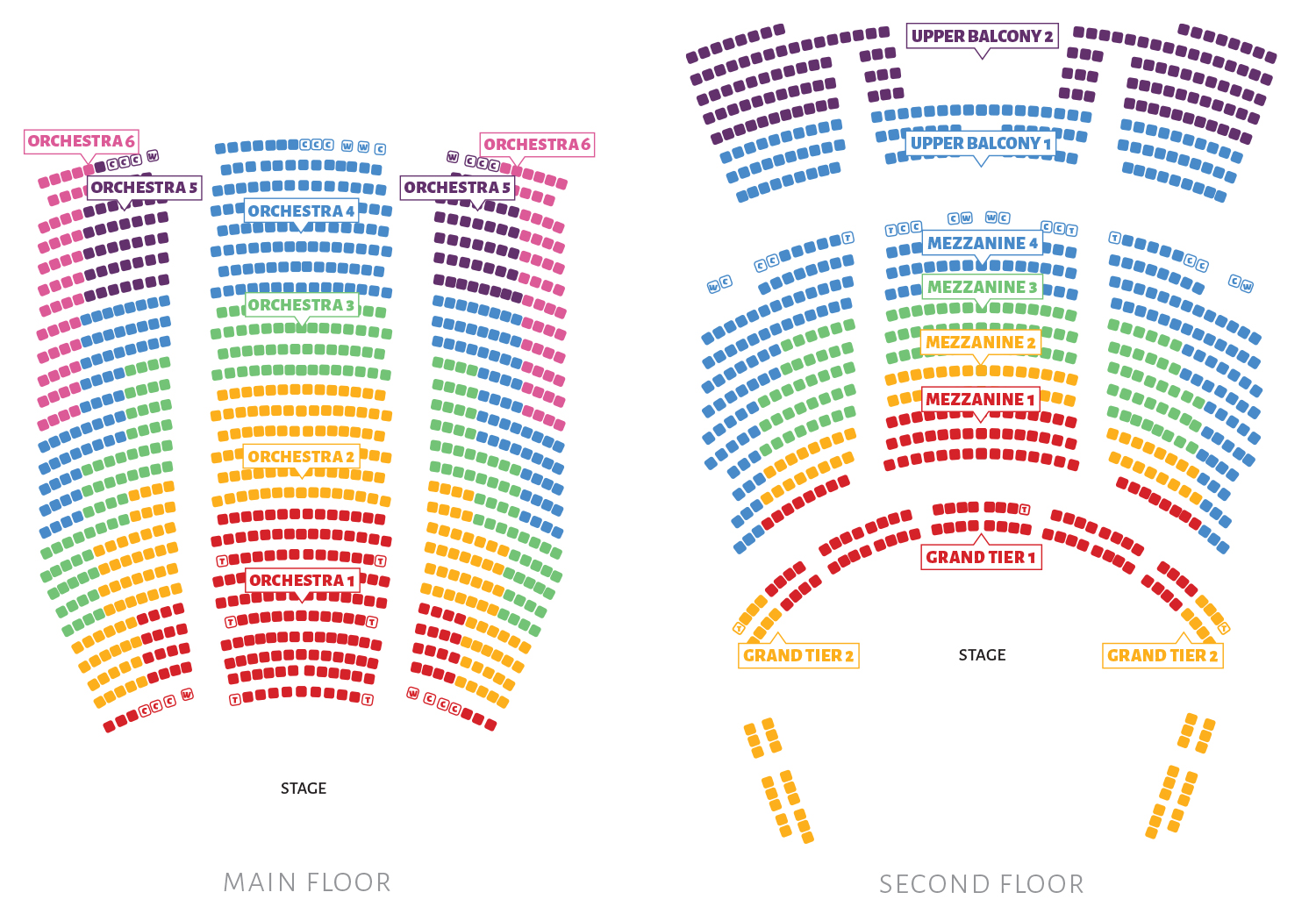 Seating Chart Ballet West