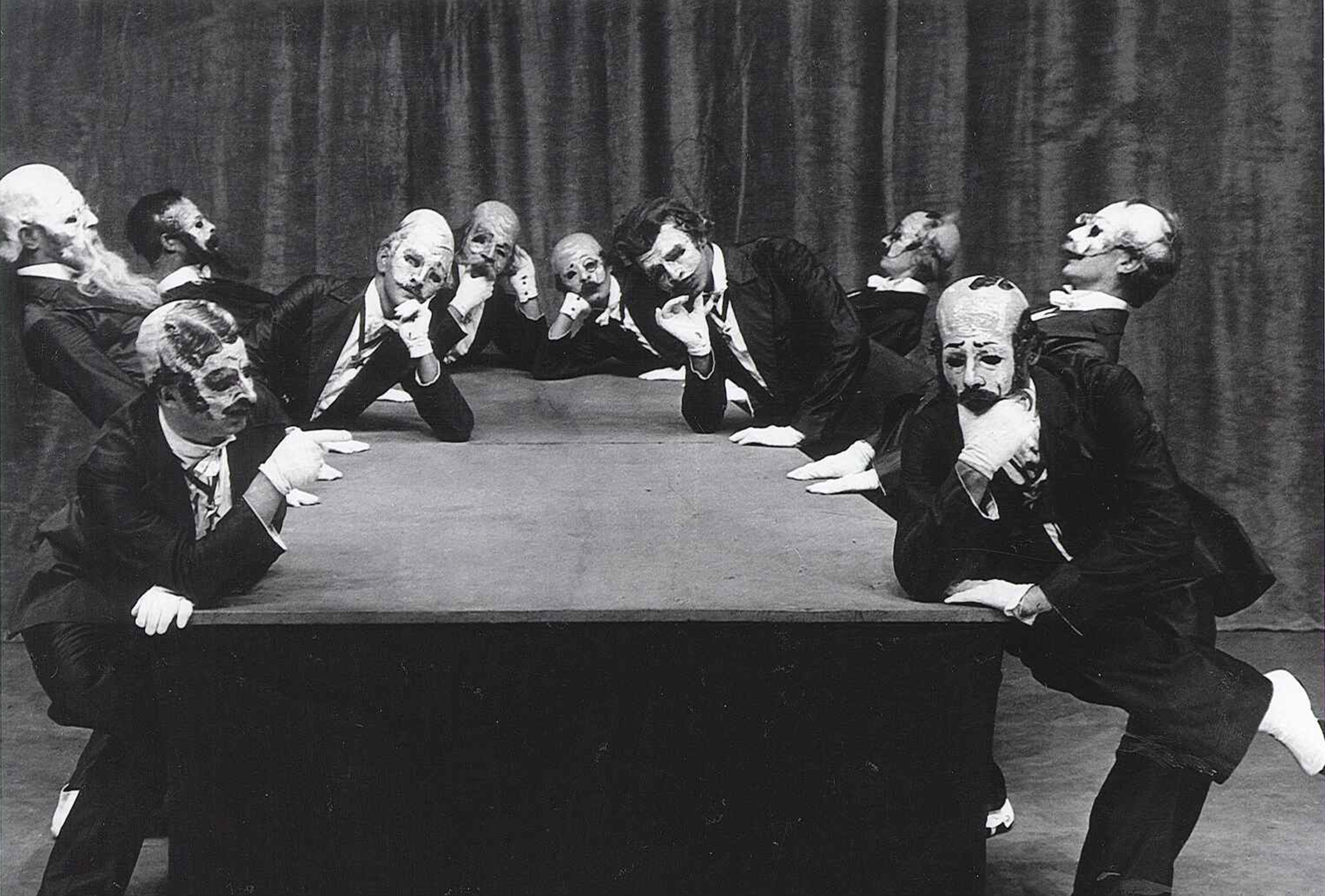 The Green Table, 1932. The Gentlemen in Black. Photo by Albert Renger-Patzsch. Courtesy of Kurt Jooss Archives / Deutsches Tanzarchiv Köln.